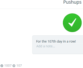 Pushups habit streak